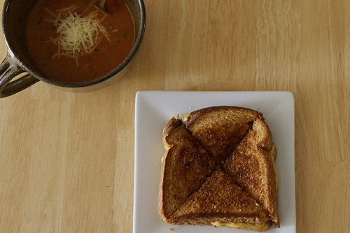 Parmesan Crusted Grilled Cheese Sandwich