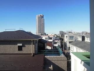 2013/1/26 杉並区立和田中学校視察 校舎より街並みを望む。
