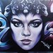 She had a crown made of alien space monkey skulls?!! by Title graffiti