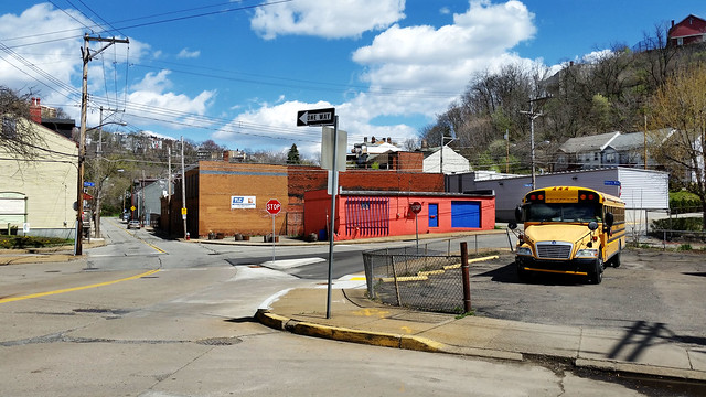 East Allegheny Intersection with School Bus