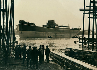 Launch of the cargo ship 'Highcliffe'