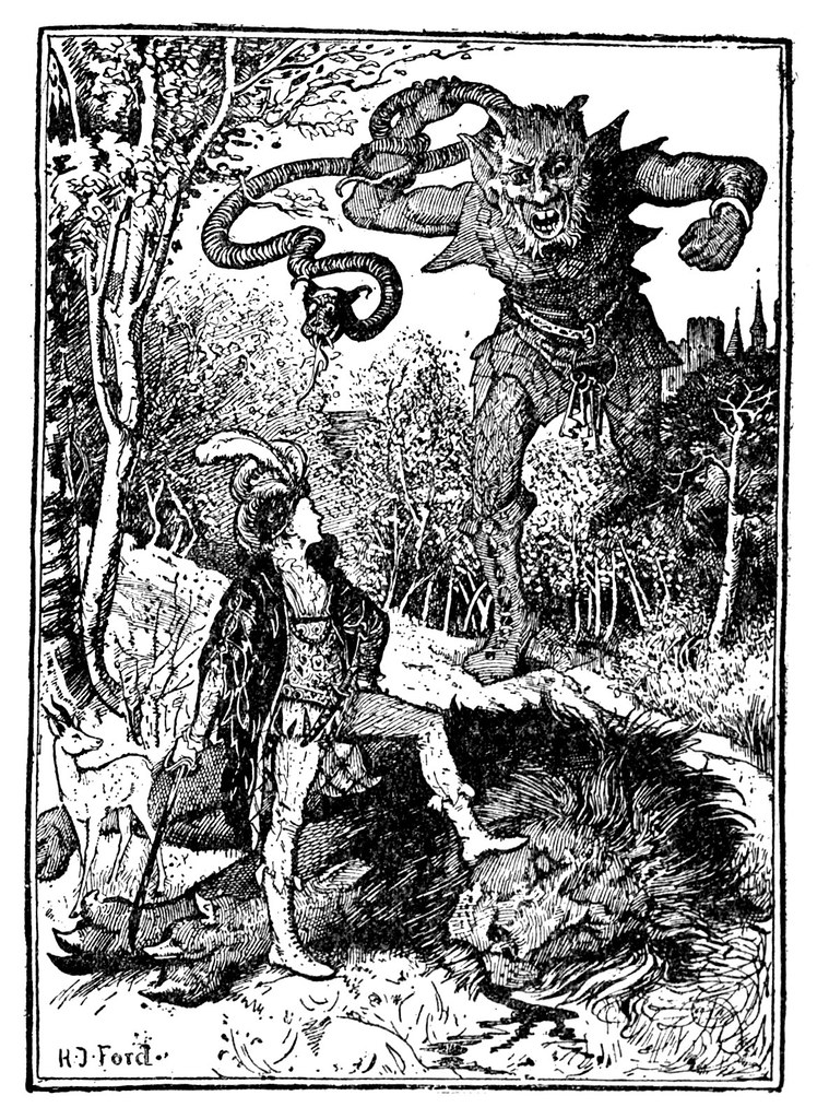 Henry Justice Ford - The green fairy book, edited by Andrew Lang, 1900 (illustration 8)