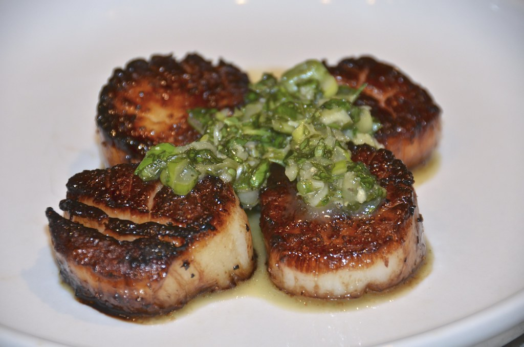 Scallops with Chimichurri
