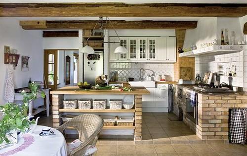 Fotos de diseno de cocinas rusticas - Muebles de cocina hechos de obra ...