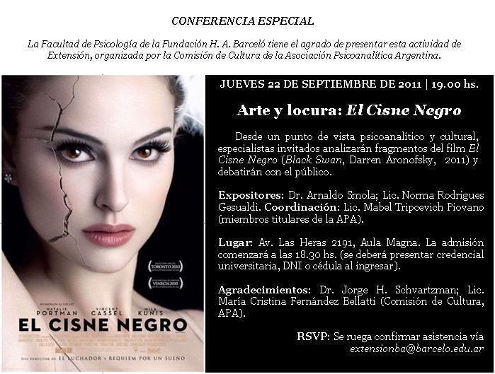 """Cine-debate """"El Cisne Negro"""" (2011)"""