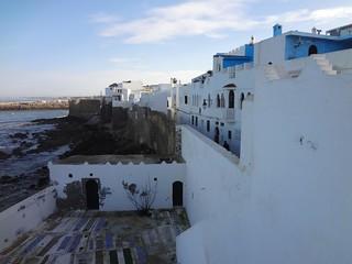 Cidade de Asilah no norte de Marrocos