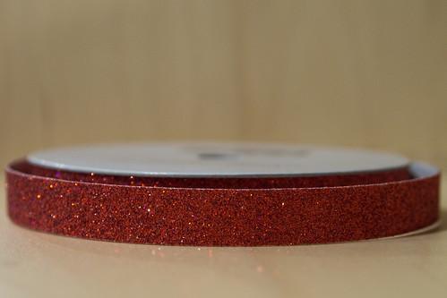 Red glitter tape