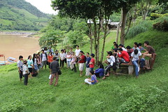 MPJ participants on banks of Mekong River