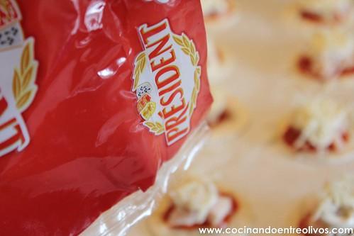 Minipizzas crujientes con queso cocina President (12)