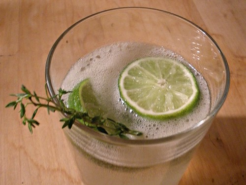 lime thyme cocktail