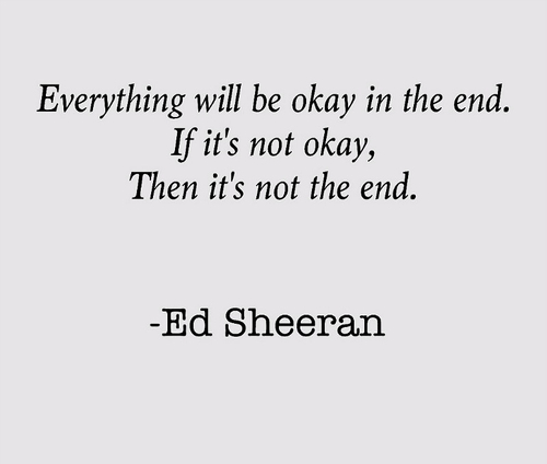 quotes by ed sheeran like success