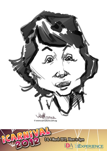digital live caricature for iCarnival 2012  (IDA) - Day 1 - 22
