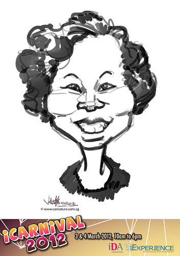 digital live caricature for iCarnival 2012  (IDA) - Day 1 - 77