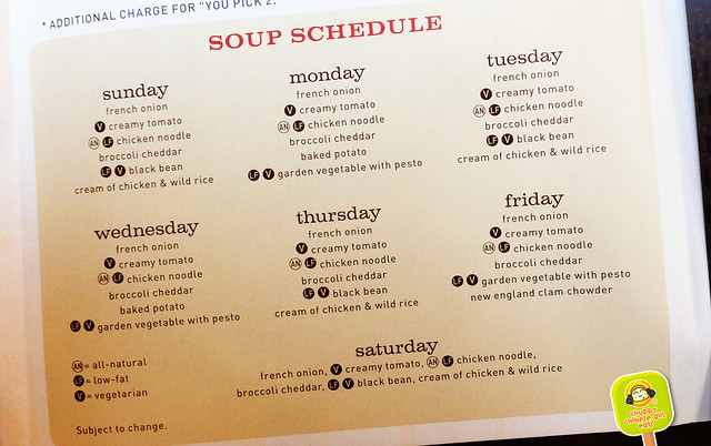 panera bread soup menu