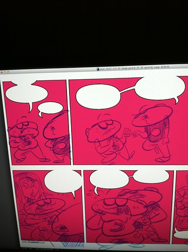 Sneak peek at pencils for 12-20-2012 strip