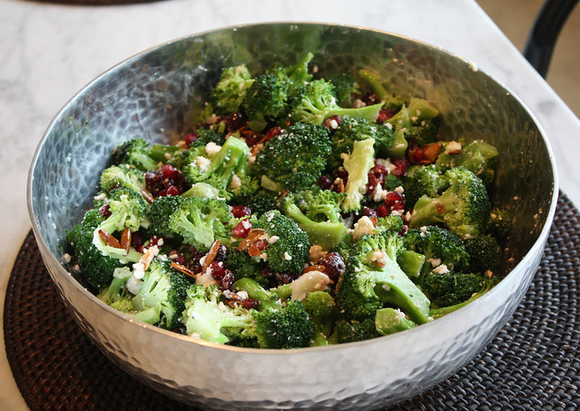 Broccoli, Pomegranate, Feta Salad