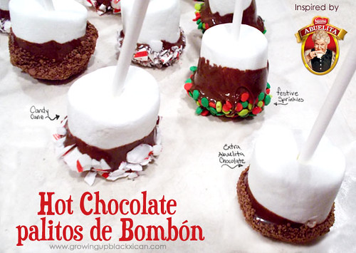 hot chocolate palitos de bombon