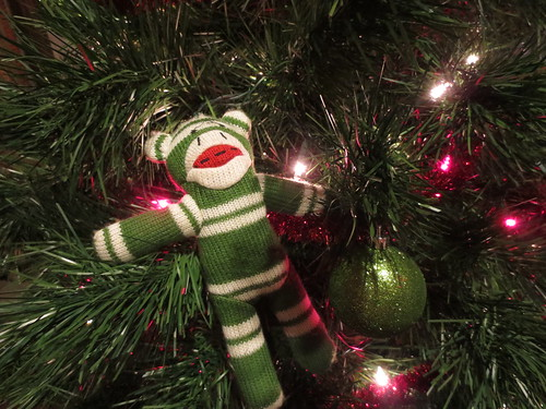 Sock Monkey in a tree