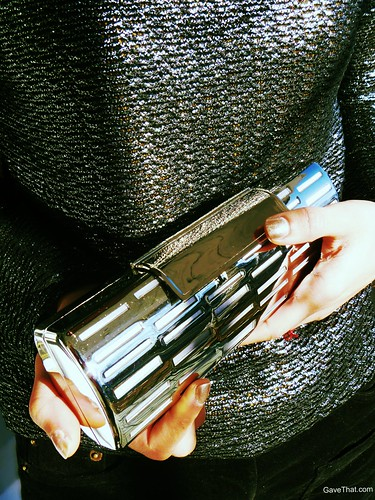 Glass Handbag Silver Clutch