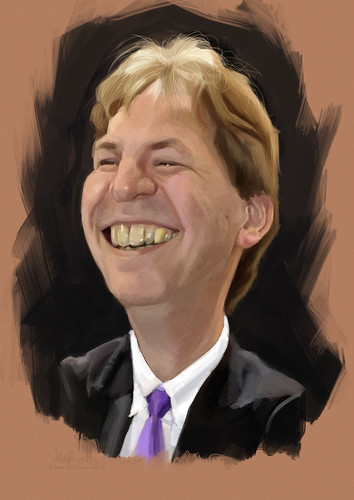 digital caricature of Arild Per for Hewlett Packard