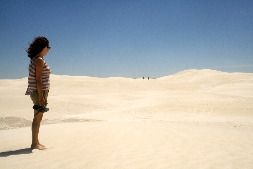 at Lancelin dunes