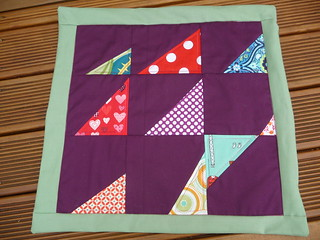 From 'Block Party' - Wonky triangles - matching cushion cover
