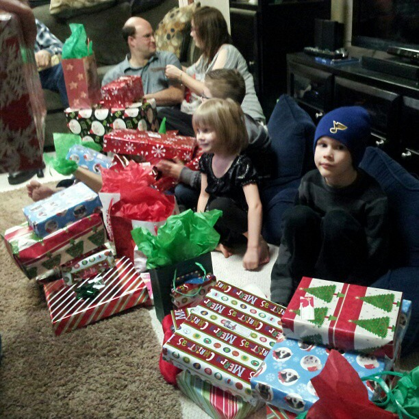To be a kid and have a giant mountain of presents.