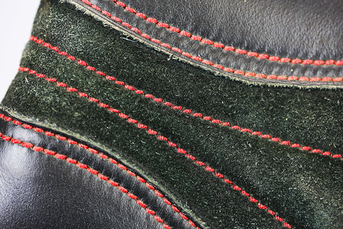 MACRO SHOT OF STITCHING DETAIL