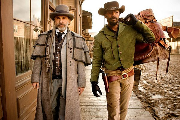 Christoph Waltz and Jamie Foxx get their Tarantino Western going in DJANGO UNCHAINED.