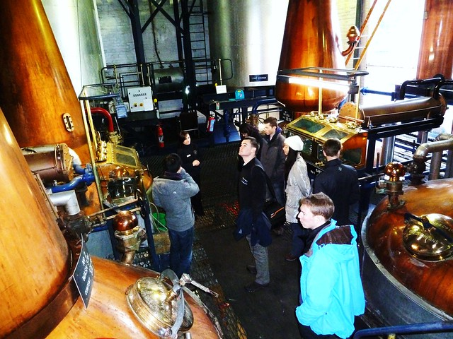 Tour Group at Tullibardine Distillery, Scotland