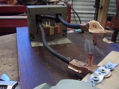 Copper blocks for better current.