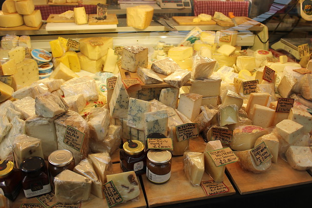 Cheese stall, Borough Market, London SE1 from Flickr via Wylio