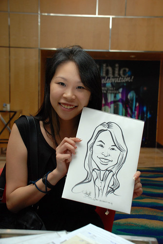 caricature live sketching for Civica Dinner & Dance 2012 - 26