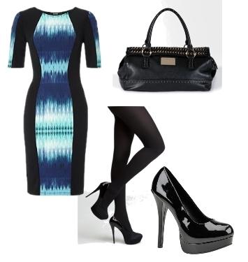 Electric Blue Aztec Midi Dress