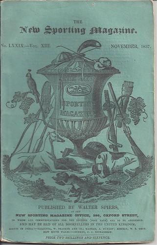 New Sporting Magazine, London - November, 1837