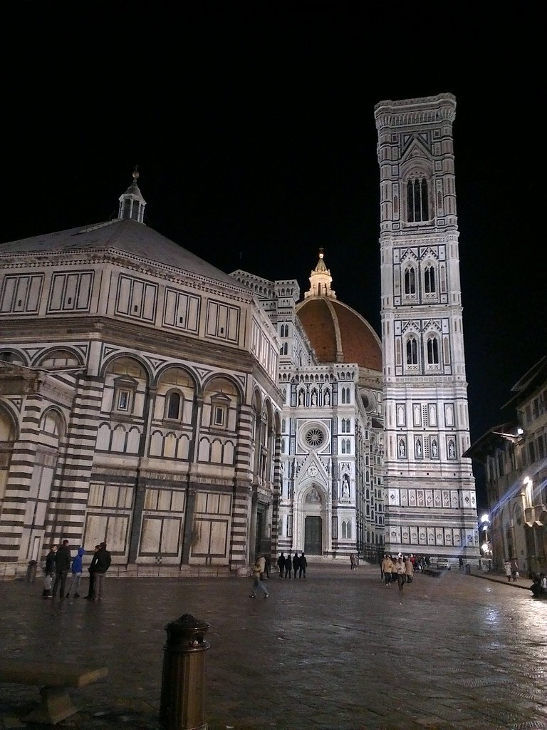 Il Duomo at night.