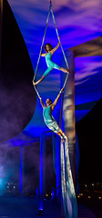 purple, event, performing arts, aerialist, entertainment, performance, blue, acrobatics, circus,