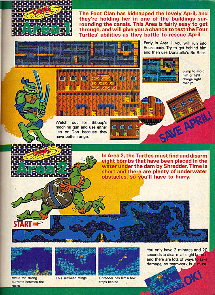 "NINTENDO POWER ::  MAY/JUNE 1989 // Vx p.11 "" TEENAGE MUTANT NINJA TURTLES "" { original review } by tOkKa"