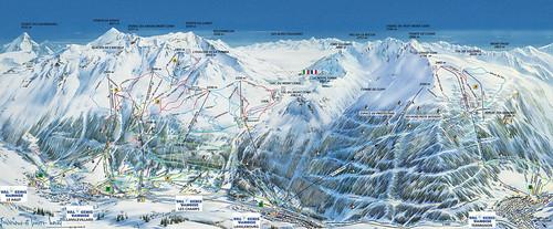 Val Cenis - mapa sjezdovek
