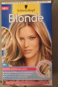 Haarfarbe und strahnchen in einer packung
