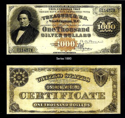 $1000 Silver Certificate Fr. 346d