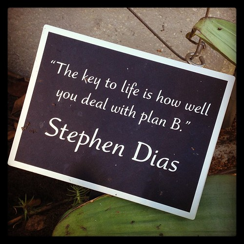"""The key to life is how well you deal with plan B."""