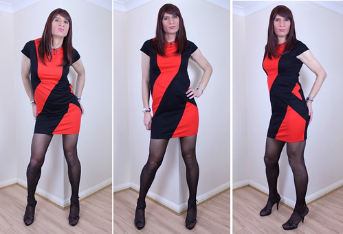 New black and red dress...