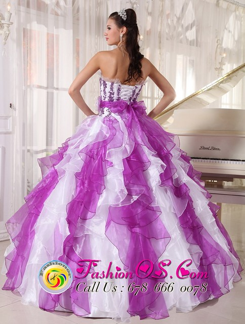 multi-colored dress for quinceaneras