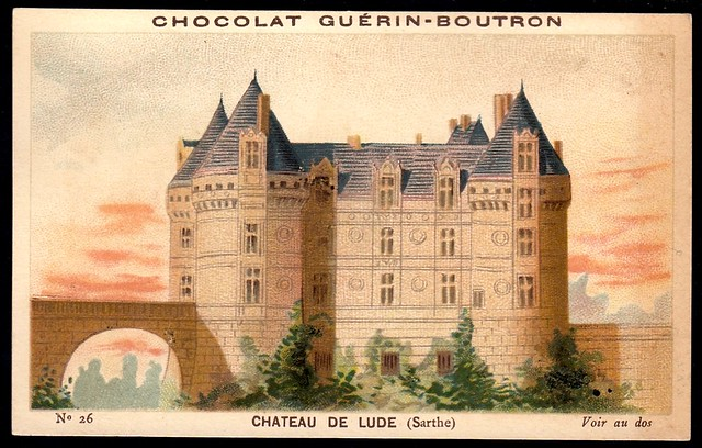 French Tradecard - Chateau De Lude
