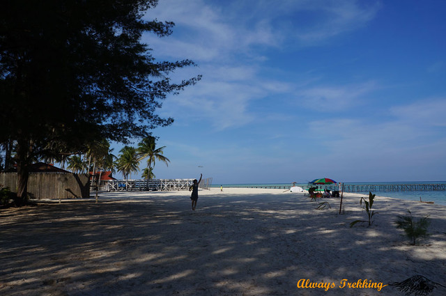 The beach in Derawan, East Kalimantan, Indonesia