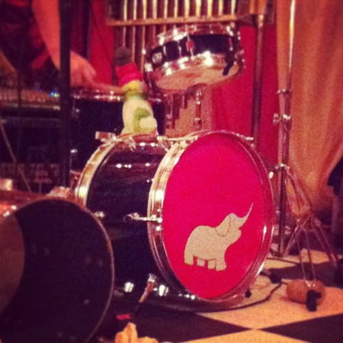 Music Tapes drum with elephant. #e6 #elephant6