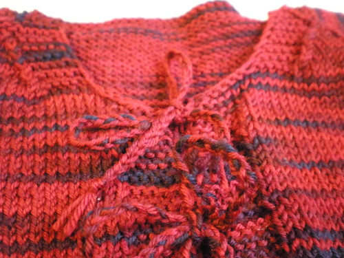 Knitted Baby Cardigan Detail
