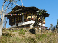 Local farm house in Bhutan