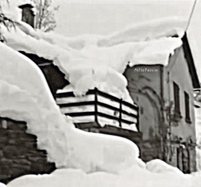 maison du Midi ensevelie sous la neige des 30 et 31 janvier 1986 météopassion